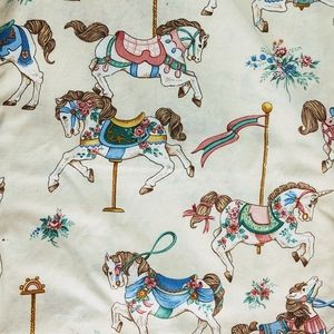 Vintage Carousel Horse Fabric by Cranston